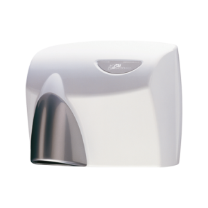 HDABWHTSG AUTOBEAM Automatic Hand Dryer - White with Silver Gloss Nozzle