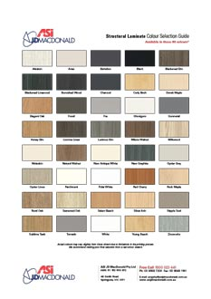 Structural Laminate Colour Selection Guide